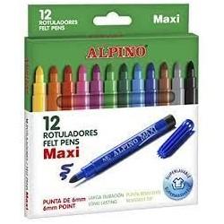 ALPINO - Etui 12 feutres de coloriage