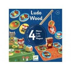 DJECO - Jeux éducatifs bois - LudoWood - 4 games
