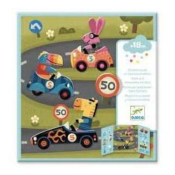 DJECO - Stickers des petits - Les voitures