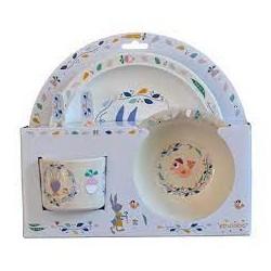 EBULOBO - Coffret 5 pièces Vaisselle Gabin Lapin