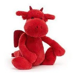JELLYCAT - Bashful Red Dragon Medium