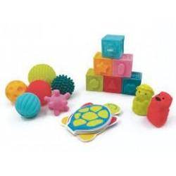 LUDI - Coffret Eveil Livre Cubes Balles