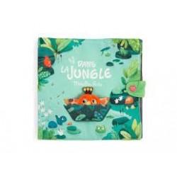MOULIN ROTY - Grand livre tissu d'activités Dans la jungle