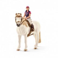 Cavalière amatrice avec cheval
