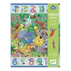 DJECO - Puzzles géants - 1 à 10 Jungle