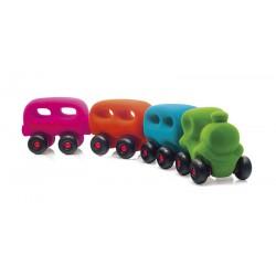 Train avec 3 wagons magnétiques