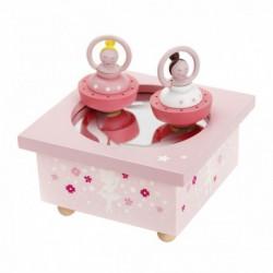 Boîte à musique : Dancing ballerine rose