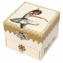 Boîte à musique cube phosphorescent : Ballerina