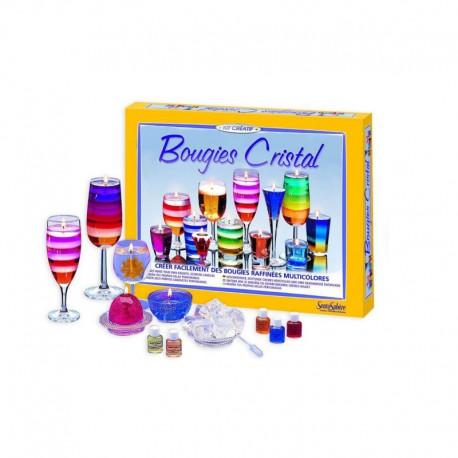 Kit créatif : bougies cristal